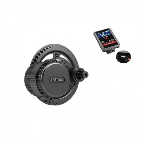 Free Shipping Bafang 8FUN Ebike Kit BBS02B 48V500W Ebike Motor Mid Drive Colorful LCD Display Cutoff Brake Sensor