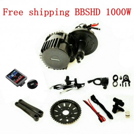 8Fun Bafang BBSHD BBS03 Mid Drive Motor 48V 1000W 46T Ebike Kits With C965 LCD Display